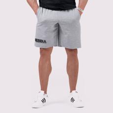 NEBBIA Men's Shorts Legday Hero Light Grey M