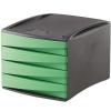 """Nebuló """"4 fiókos irattároló, műanyag, FELLOWES """"""""Green2Desk"""""""", zöld"""""""