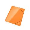 """Nebuló """"Gumis mappa, 15 mm, karton, A4, lakkfényű, LEITZ """"""""Wow"""""""", narancssárga"""""""