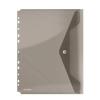 Nebuló Irattartó tasak, A4, PP, patentos, lefűzhető, DONAU, füstszínű