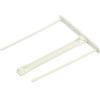 Nebuló Lefűzőklip, műanyag, fehér, 100 mm, FELLOWES - 100db/csomag