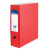 Nebuló Tokos iratrendező, 75 mm, A4, karton, VICTORIA, piros