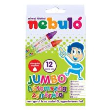 Nebulo Zsírkréta, háromszögletű, jumbo, 12 darabos, NEBULÓ kréta