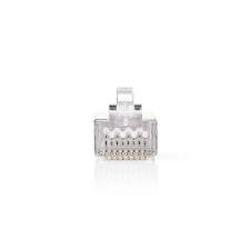Nedis Nedis Hálózati Csatlakozó | RJ45 Male - Szilárd Cat 5 U/FTP-kábelekhez | 10 darabos | Fém kábel és adapter