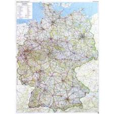 Németország domborzata falitérkép - f&b térkép
