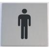 """NEMMEGADOTT tábla alu öntap. 60x60mm """"férfi WC"""" szimb."""