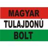 Nemzeti színű Magyar tulajdonú bolt felírattal matrica