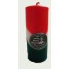 Nemzeti színű tuskógyertya 12 cm, Nagy-Magyarország ónmatricával (3,2x4 cm)