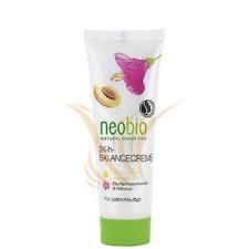 Neobio Bio-Sárgabarackmag olaj & Hibiszkusz 24 órás kiegyensúlyozó krém 50 ml nappali arckrém