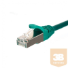 Netrack patch cable RJ45; snagless boot; Cat 5e FTP; 0.25m green