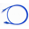Netrack patch cable RJ45, snagless boot, Cat 6 UTP, 0.5m blue