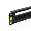 """Netrack patch panel 12 port 1U 10"""" Cat6 árnyékolt fekete (104-16)"""