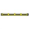 "Netrack patch panel 24 port 19"" Cat6 keyston fekete (104-06)"