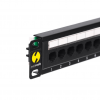 "Netrack Patchpanel 10"", 12 - ports cat. 5e UTP LSA, without bracket"