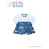 NEW BABY Baba body szoknyával New Baby Light Jeansbaby fehér | Fehér | 62 (3-6 h)