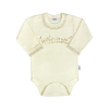 NEW BABY Baba hosszú ujjú body New Baby Angel bézs | Bézs | 86 (12-18 h)
