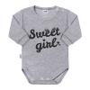 NEW BABY Baba hosszú ujjú body New Baby Sweet girl szürke | Szürke | 74 (6-9 h)