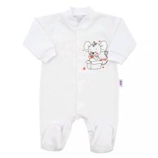 NEW BABY Baba kezeslábas New Baby Mouse fehér babakabát, overál, bundazsák