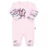 NEW BABY Baba kézeslábas New Baby With Love rózsaszín