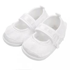 NEW BABY Baba kislányos cipő New Baby szatén fehér 12-18 h