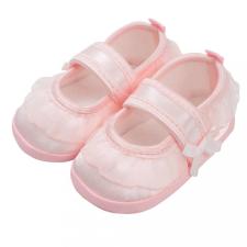 NEW BABY Baba kislányos cipő New Baby szatén rózsaszín 12-18 h gyerek cipő