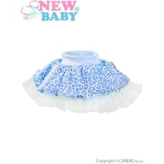NEW BABY Baba szoknya tüll alsószoknyával New Baby Leopárd kék