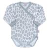 NEW BABY Baba teljes hosszában patentos body New Baby Zsiráf | Fehér | 56 (0-3 h)