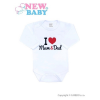 NEW BABY Body nyomott mintával New Baby I Love Mum and Dad | Piros | 74 (6-9 h)