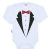 NEW BABY Body nyomtatott mintával New Baby szmoking | Fehér | 62 (3-6 h)