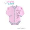 NEW BABY Csecsemő hosszú ujjú body (kombidressz) New Baby Barátok rózsaszín | Rózsaszín | 56 (0-3 h)