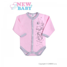 NEW BABY Csecsemő hosszú ujjú body (kombidressz) New Baby Barátok rózsaszín   Rózsaszín   56 (0-3 h) kombidressz, body