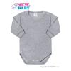 NEW BABY Csecsemő hosszú ujjú body New Baby szürke   Szürke   50