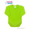 NEW BABY Csecsemő hosszú ujjú body New Baby világos zöld | Világos zöld | 74 (6-9 h)