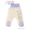 NEW BABY Csecsemő lábfejes nadrág New Baby Barátok bézs | Bézs-tejfehér | 80 (9-12 h)