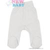 NEW BABY Csecsemő lábfejes nadrág New Baby Classic | Fehér | 80 (9-12 h)