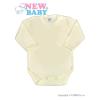 NEW BABY Csecsemő teljes hosszba patentos body New Baby Classic bézs | Bézs | 62 (3-6 h)