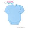 NEW BABY Csecsemő teljes hosszba patentos body New Baby Classic kék | Kék | 62 (3-6 h)