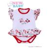NEW BABY Fodros, rövid ujjú baba body New Baby Katica | Fehér | 56 (0-3 h)