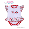 NEW BABY Fodros, rövid ujjú baba body New Baby Katica | Fehér | 74 (6-9 h)