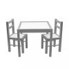 NEW BABY Gyerek fa asztal székekkel New Baby PRIMA szürke