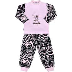 NEW BABY Gyerek pamut pizsama New Baby Zebra léggömbbel rózsaszín