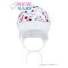 NEW BABY Gyerek pamut sapka New Baby Katica | Fehér | 56 (0-3 h)