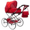 NEW BABY Gyermek Retro babakocsi babáknak 2az1-ben New Baby Magdalena piros pöttyös