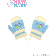NEW BABY Gyermek téli kesztyű New Baby autóval világos kék