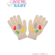 NEW BABY Gyermek téli kesztyű New Baby Girl bézs