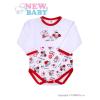 NEW BABY Hosszú ujjú baba body New Baby Katica | Fehér | 86 (12-18 h)