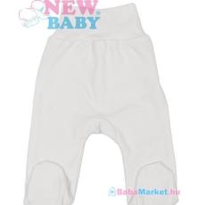 NEW BABY Lábfejes baba nadrág - New Baby Classic fehér