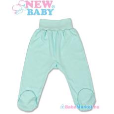 NEW BABY Lábfejes baba nadrág - New Baby türkiz 86 (12-18 hó)