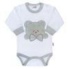 NEW BABY Luxus baba hosszú ujjú body New Baby Honey Bear 3D | Fehér | 62 (3-6 h)