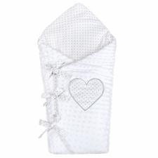 NEW BABY Luxus megkötős pólya Minka New Baby fehér 75x75 cm pólya